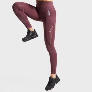Gymshark energy + seamless legging in Berry Red
